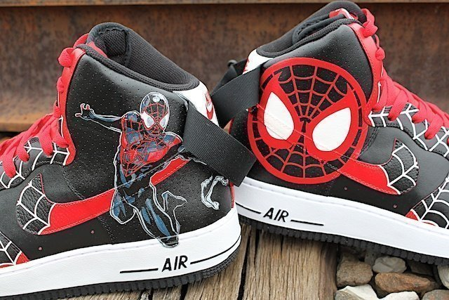 The New Spiderman Michael Morales – Customized Shoes