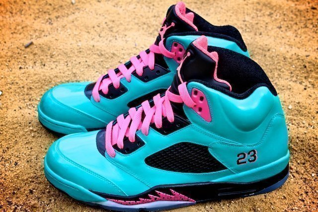 South Beach Jordan V – Custom Sneakers