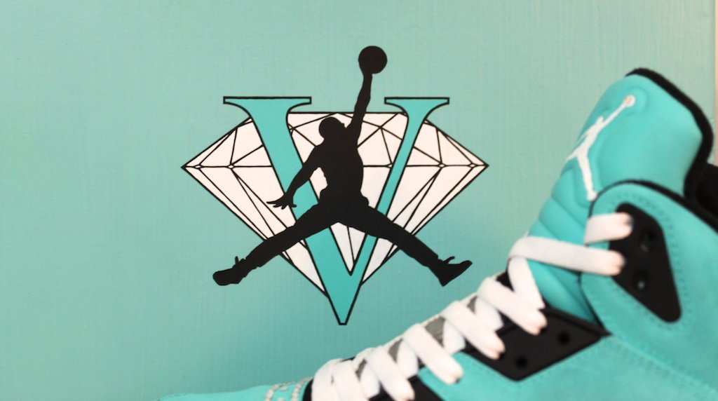 Tiffany Jordan V Custom Kicks