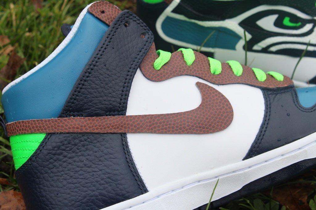 Seattle Seahawks Nike Dunks - Custom Kicks