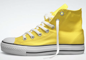 yellow chuck taylor