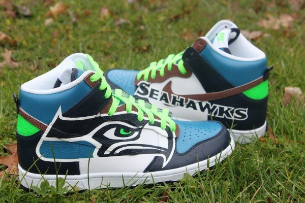 Seattle Seahawks Nike Dunks 005
