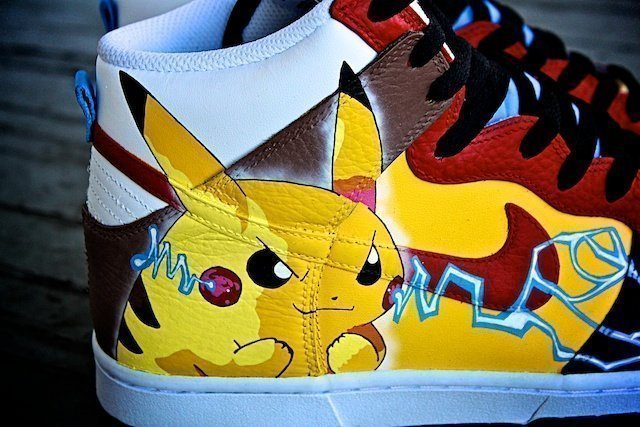 Pikachu Custom Sneakers Nike Dunk 4