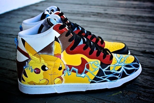 Pikachu Custom Sneakers Nike Dunk 5