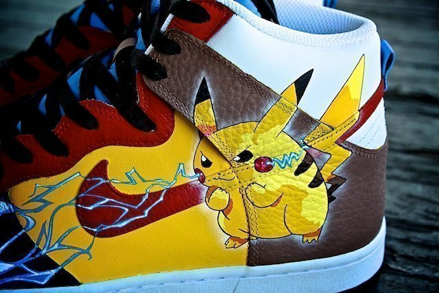 Pikachu Custom Sneakers Nike Dunk 6