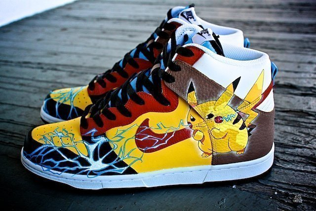 Pikachu Custom Sneakers Nike Dunk 8