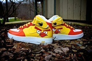 Custom Angry Bird Shoes
