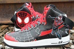 Spiderman Nike Air Force One Custom Shoes