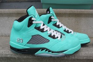 Tiffany Jordan 5 Custom Sneakers