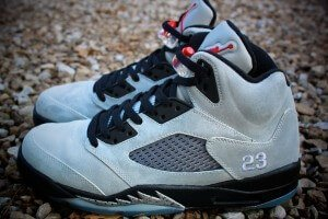 Metallic Jordan 5 Custom Sneakers