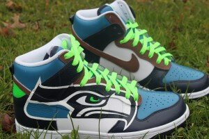 Seattle Seahawks Nike Dunk Custom Sneakers