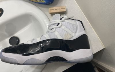 Sneaker Cleaning & Restoration Tips – Jordan 11 Concord Stain